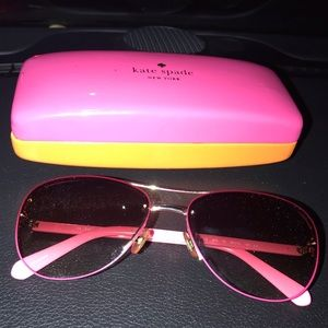 Pink Aviator Kate Spade Sunglasses